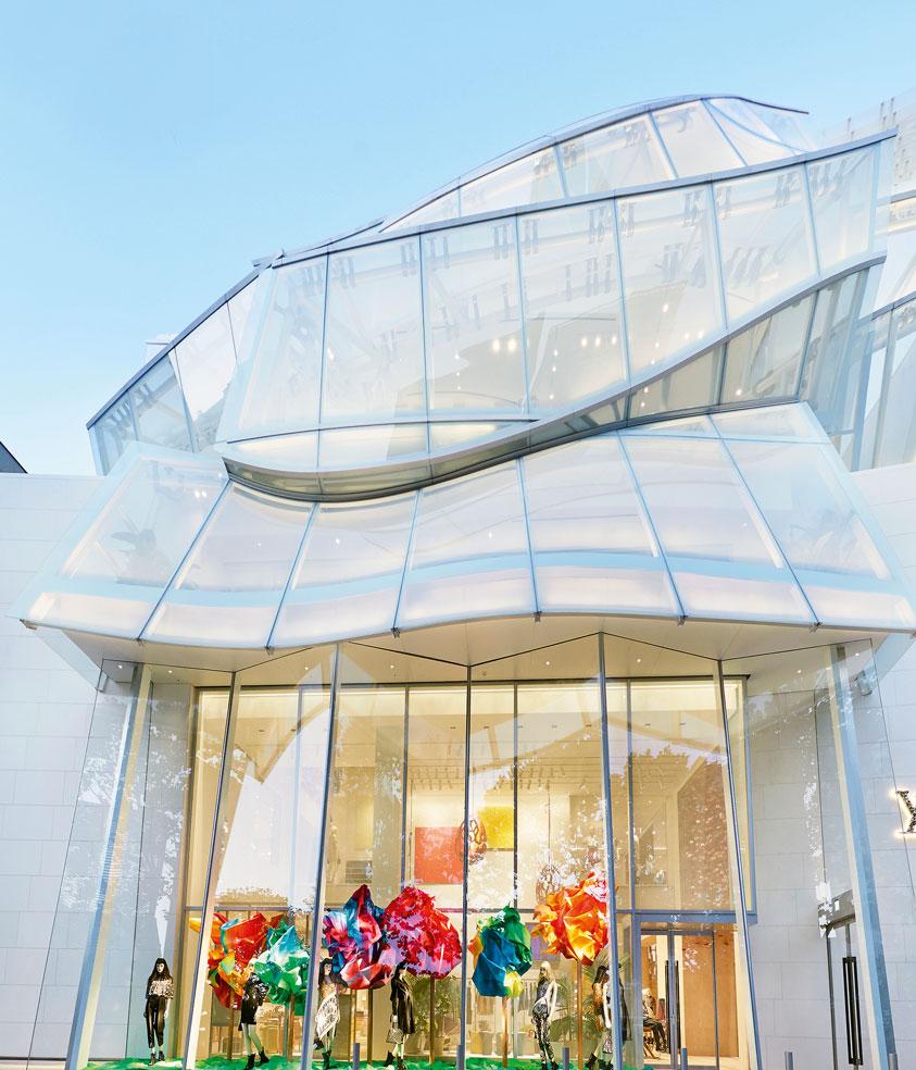 Louis Vuitton Maison Seoul glass facade