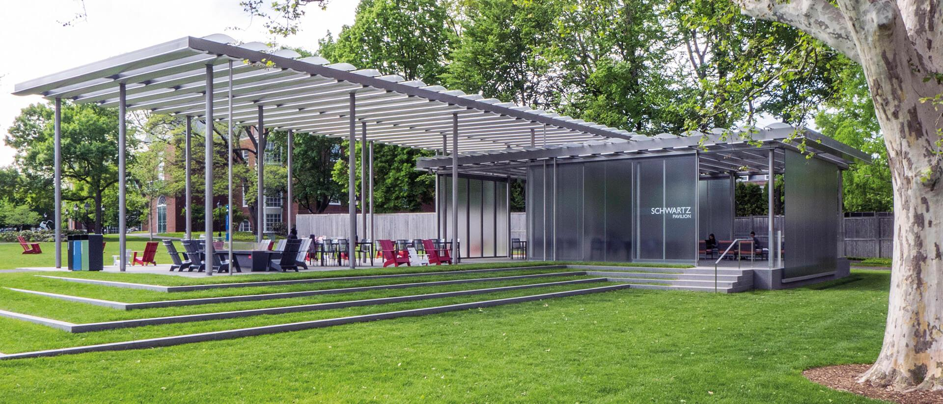 Harvard Business School - Commons Pavilion glass facade and roof